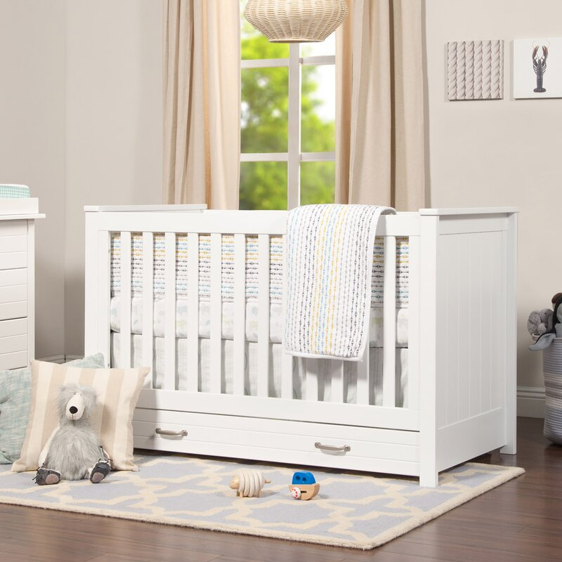 Charmant Asher 3 In 1 Convertible Crib