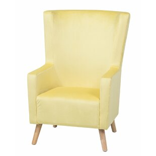 Rodriguez Fabric Wingback Chair by Bayou Breeze
