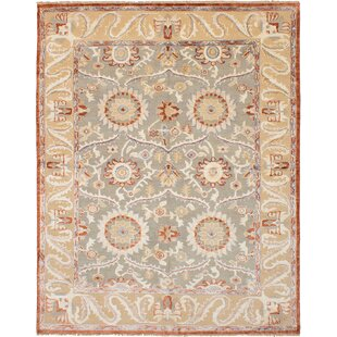 One-of-a-Kind Hasson Hand-Knotted Wool/Silk Gray Area Rug ByIsabelline