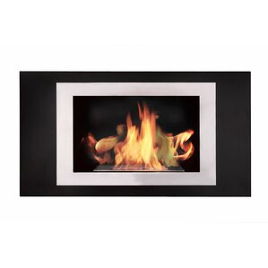 Lorenzo Recessed Wall Mount Ethanol Fireplace by BioFlame