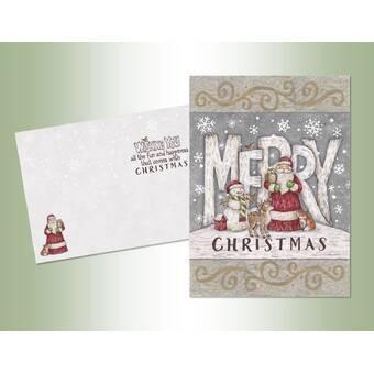 The Holiday Aisle Christmas Village Deluxe Velvet Touch Card Wayfair