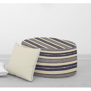 Swinford Triangle Stripe Pouf by Bungalow Rose