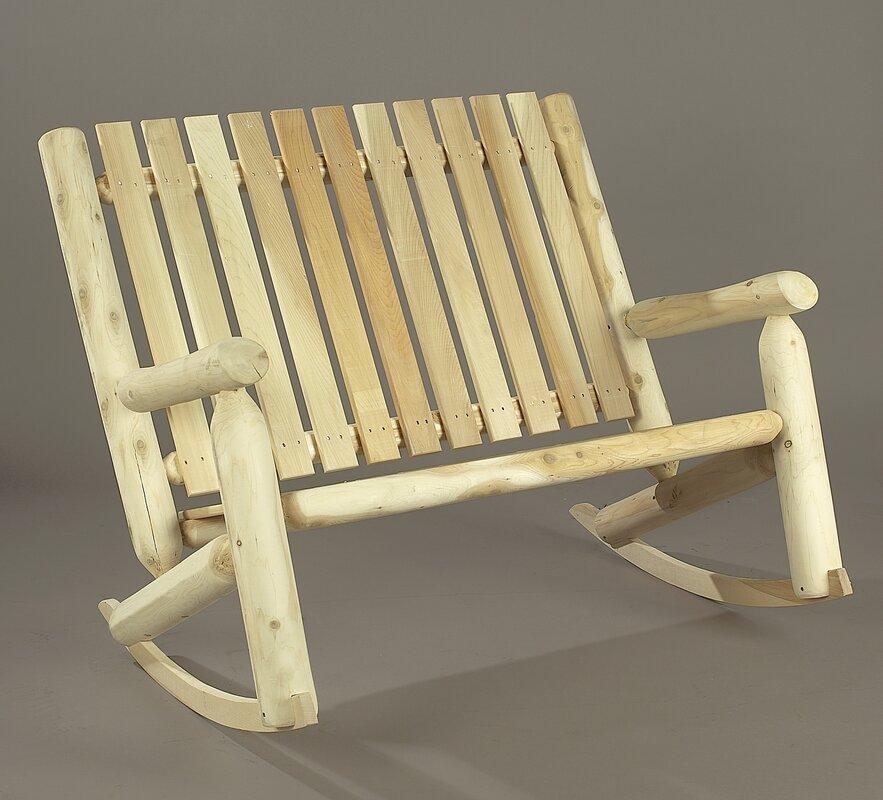 Indoor Outdoor Cedar Double Rocking Chair