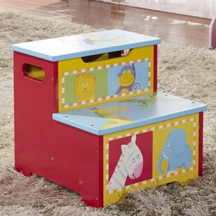 Kids Animal Step Stool with Storage by Bellasario Collection