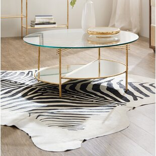 Well Balanced Round Coffee Table with Tray Top