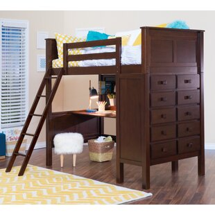 Sandisfield Twin Loft Bed with Dresser by Zoomie Kids