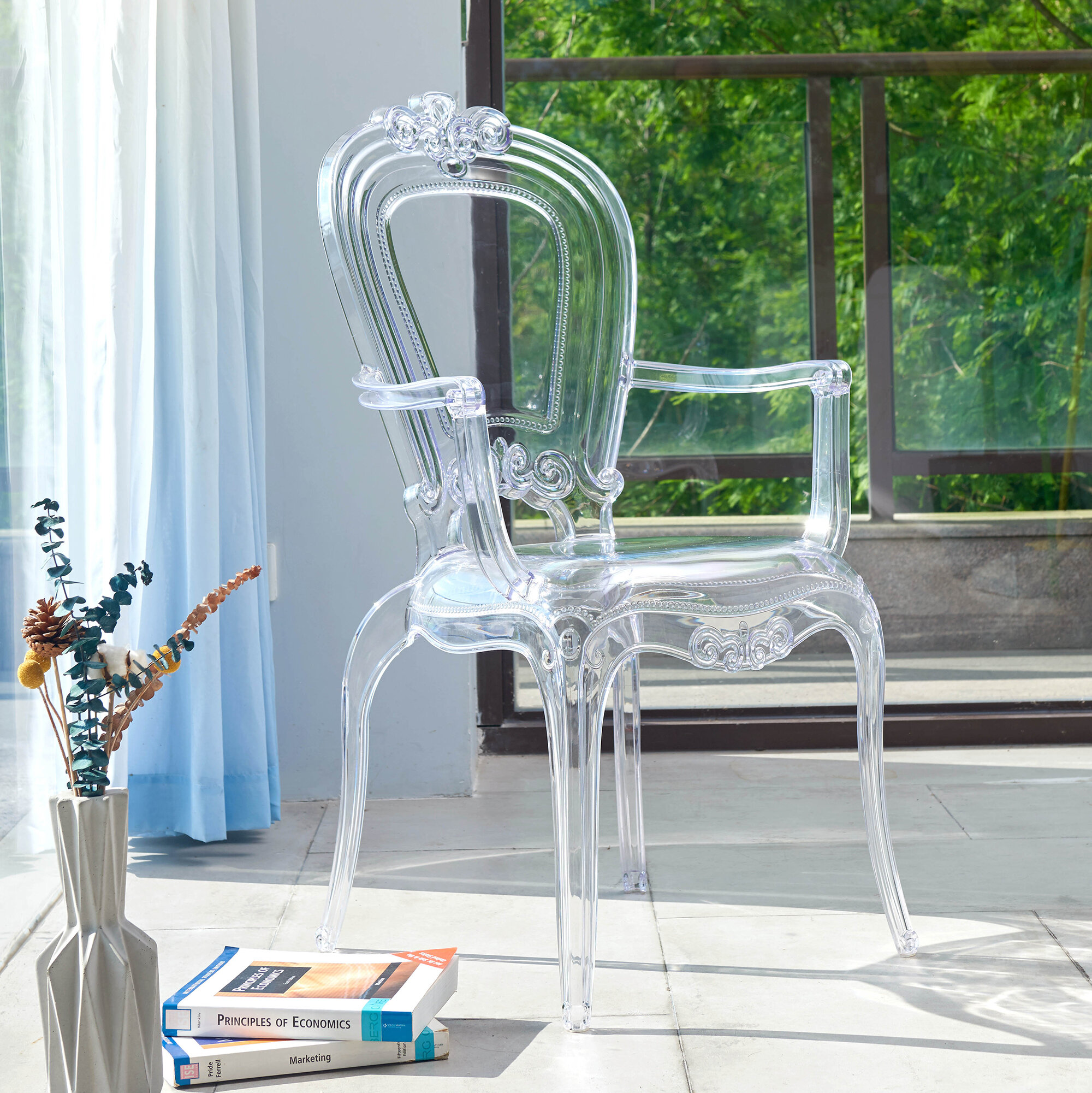 Armed Clear Kitchen Dining Chairs You Ll Love In 2021 Wayfair