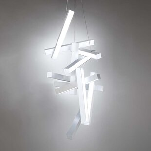 Chaos 12-Light LED Geometric Chandelier by Modern Forms