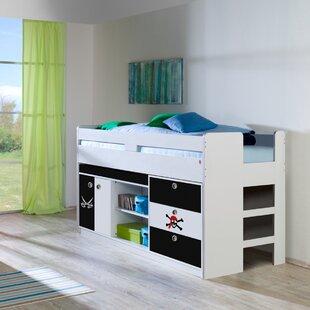 Penstemon European Single Loft Bed Mid Sleeper By Zoomie Kids