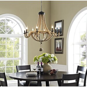 Coronet 8 Light Candle Style Chandelier