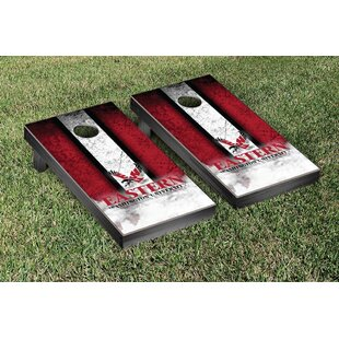 Victory Tailgate NCAA Vintage Wooden Cornhole Game Set