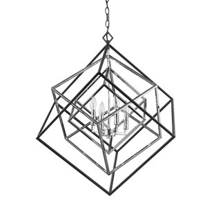 Pederson 4-Light Geometric Chandelier by Brayden Studio