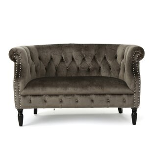 Charlotte Velvet Loveseat by M..