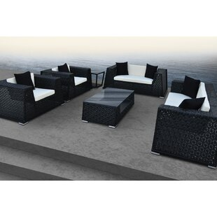 Nantucket 6 Piece Rattan Sofa Set with Cushions