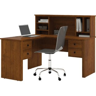 Red Barrel Studio Deweese Corner Executive Desk with Hutch