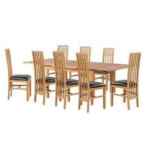 Loon Peak Pedraza 9 Piece Extendable Dining Set