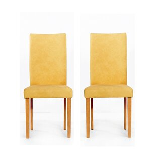 Evendale Faux Parsons Chair in Yellow Set of 2