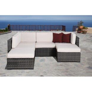 Beachcrest Home Aquia Creek 6 Piece Sectional set with Cushions