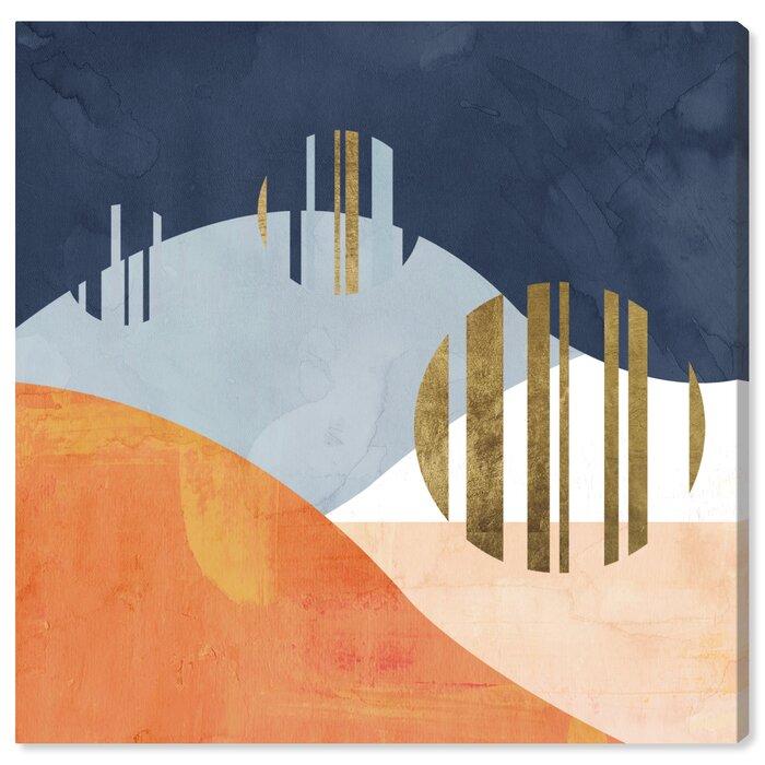 The Desert Night Graphic Art Print On Canvas