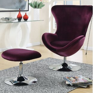 Anders Accent Lounge Chair and Ottoman by Orren Ellis