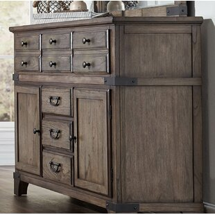 Gracie Oaks Britteny 6 Drawer Combo Dresser