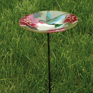 Evergreen Flag & Garden Hummingbird Birdbath
