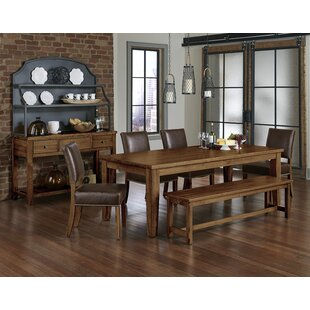 Rader 6 Piece Solid Wood Dining Set