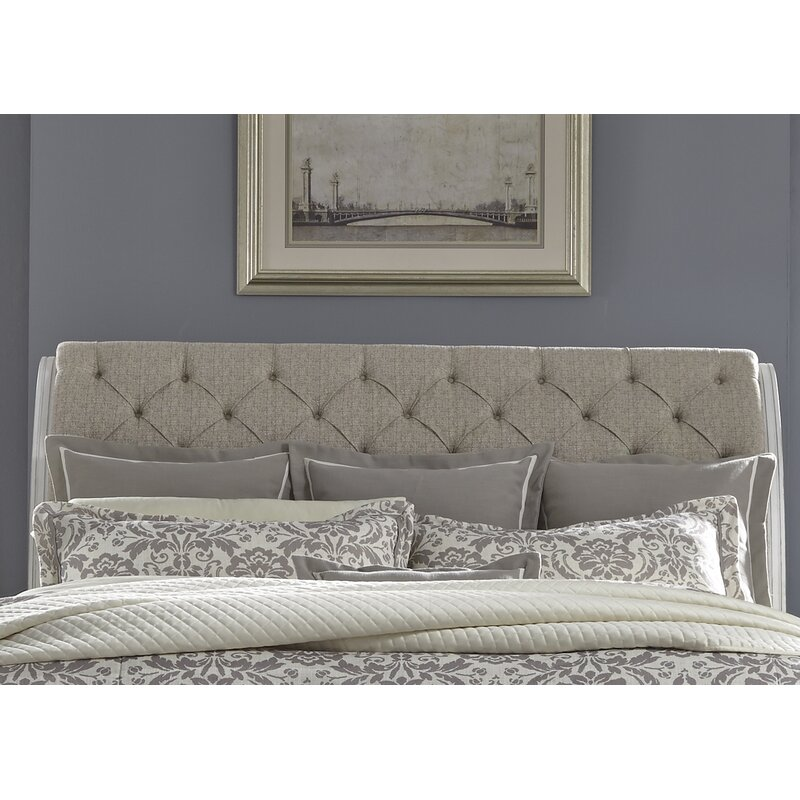 bed upholstered art wood search with ideas gray headboard taupe sleigh design panorama abstract m bedroom