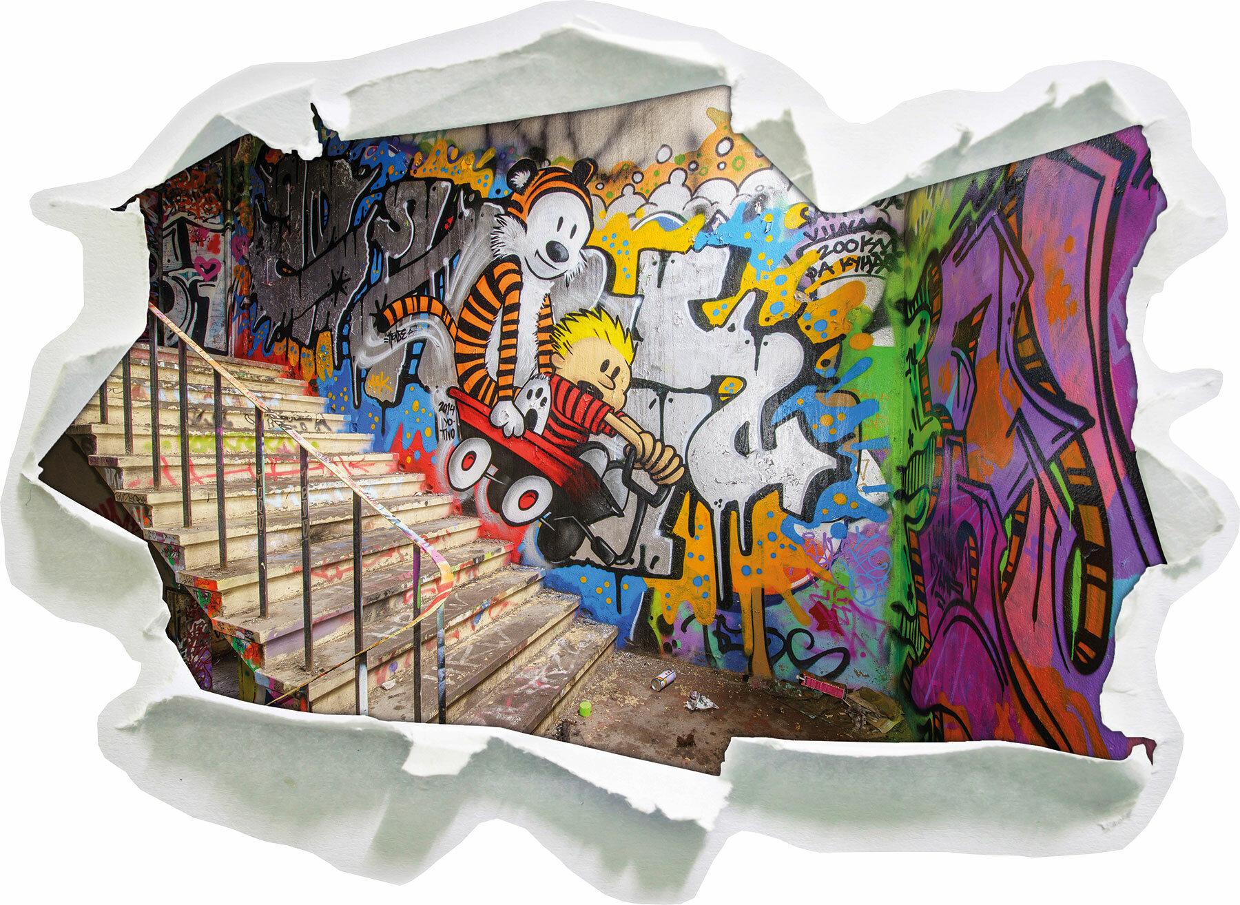 Pixxprint Wandtattoo Coloured Streetart Graffiti | Wayfair.de