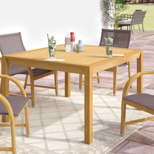 Myres Solid Wood Dining Table by Beachcrest Home