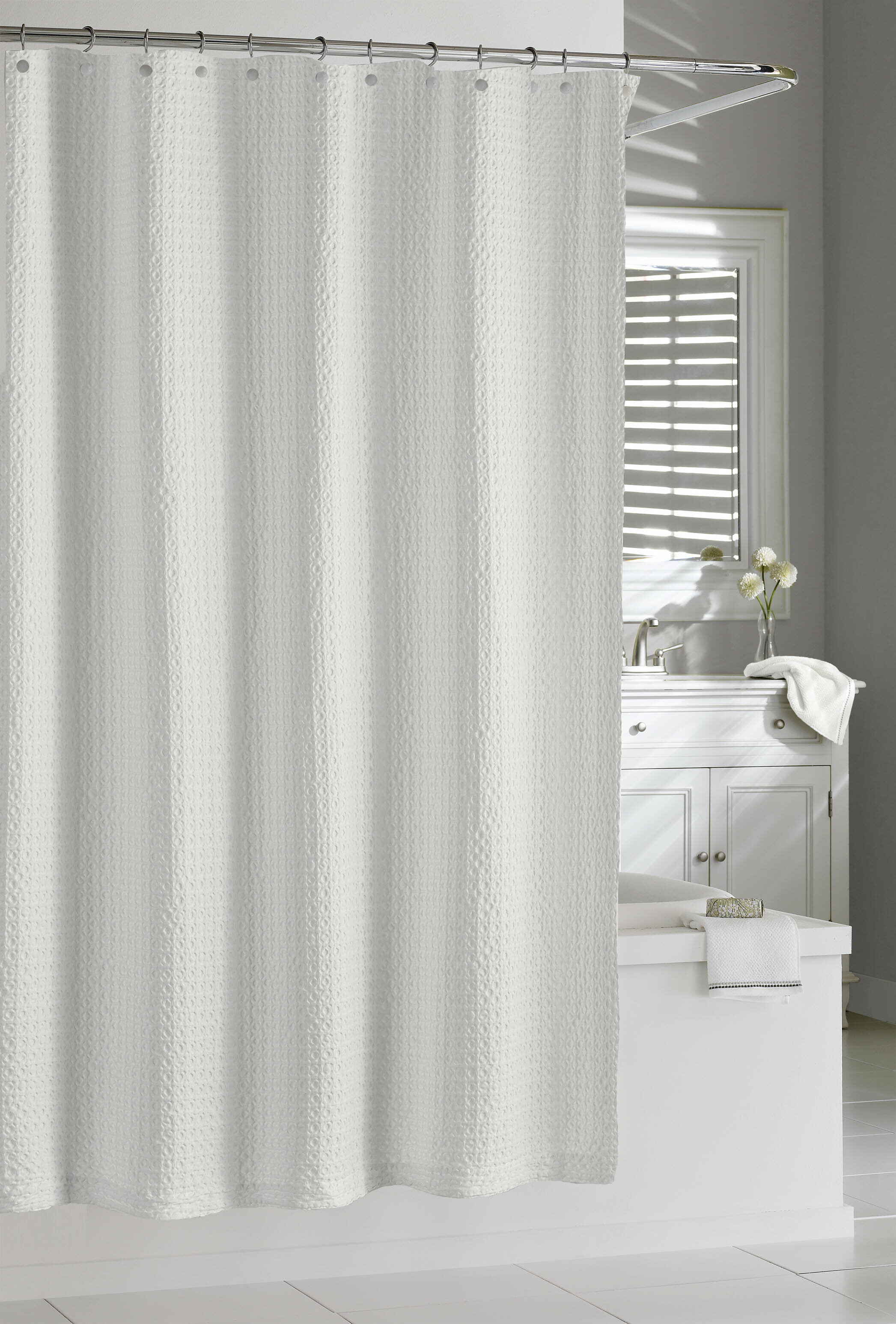 Glennville Cotton Single Shower Curtain