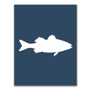 Sea Bass Fish Painting Print