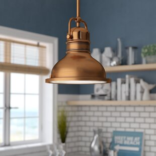Merrick 1-Light Dome Pendant by Andover Mills