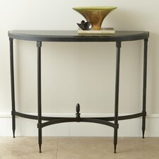 Fluted Iron Console Table with Granite Top by Global Views