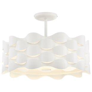 Orren Ellis Sigma 1-Light LED Semi Flush Mount