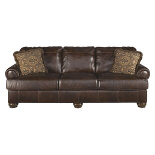 Darby Home Co Bannister Leather Sofa