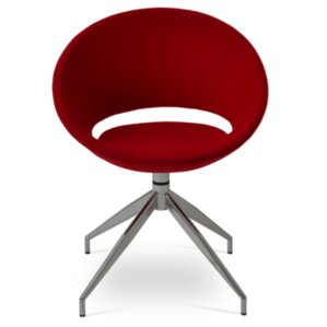 Crescent Spider Swivel Side Chair in PPM ..