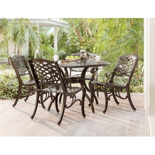 Albermarle 5 Piece Dining Set  sc 1 st  Wayfair & Round Patio Dining Sets You\u0027ll Love