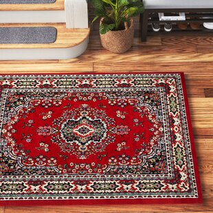 Lilly Claret Red Area Rug Wayfair
