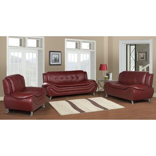 Latitude Run Tolar 3 Piece Living Room Set