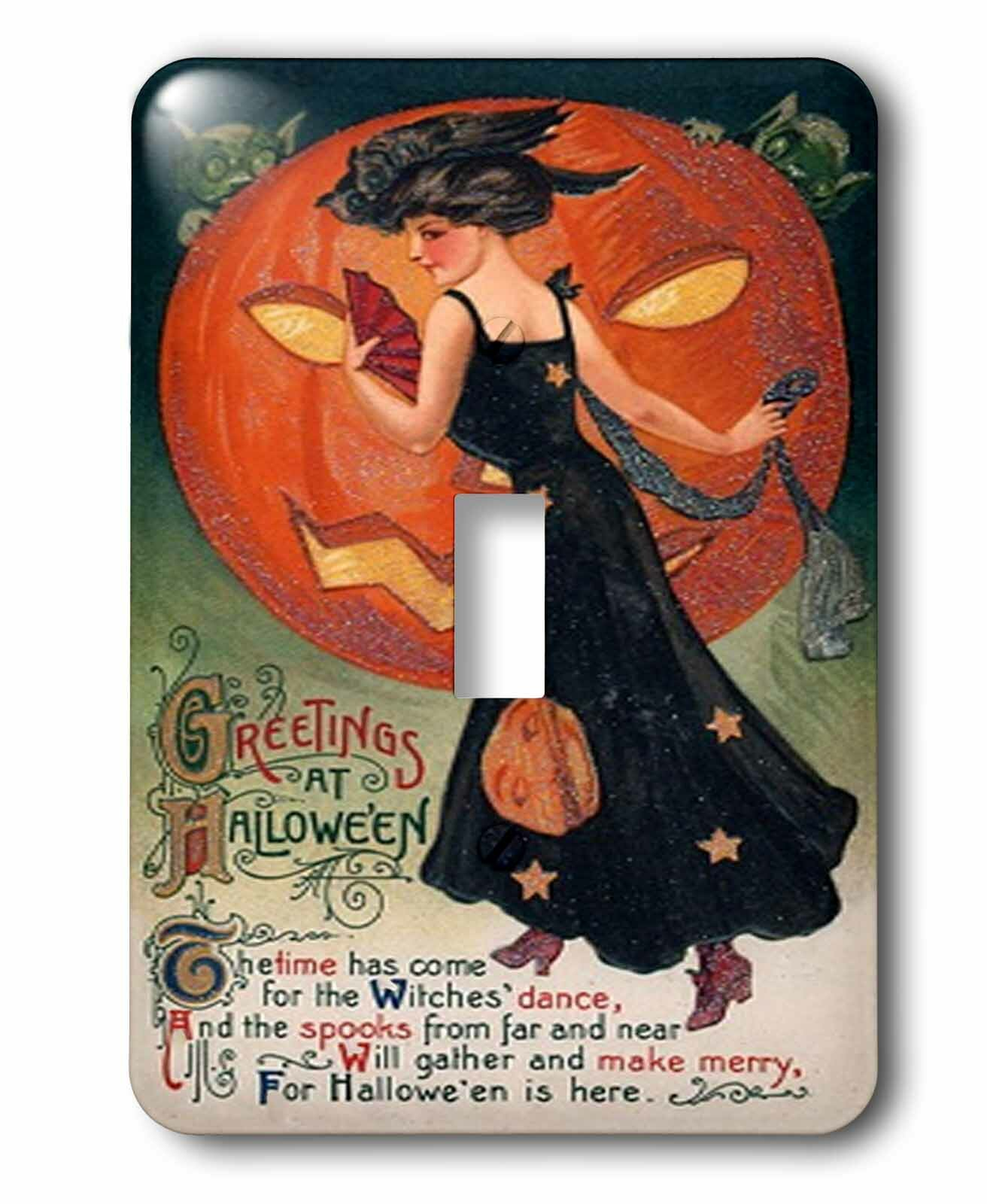 3drose Vintage Halloween Lady In 1 Gang Toggle Light Switch Wall Plate Wayfair