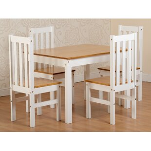 Bradmoor Dining Set With 4 Chairs By August Grove