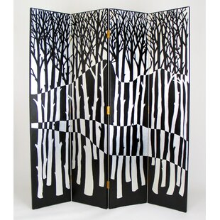 Latitude Run Navas Forest 4 Panel Room Divider