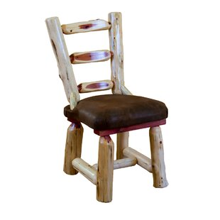 Gladiolus Cedar Upholstered Dining Chair Loon Peak