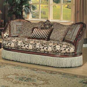 Albia Black/Beige Sofa by Astoria Grand