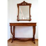 Regal French Style Console Table and Mirror Set by The Silver Teak