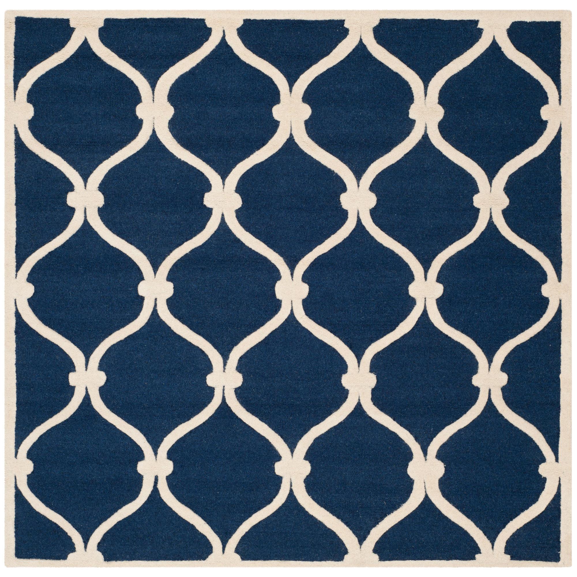 Beachcrest Home Leighton Hand Tufted Wool Blue Area Rug Reviews Wayfair