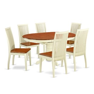 Aimee 7 Piece Solid Wood Dining Set by Au..