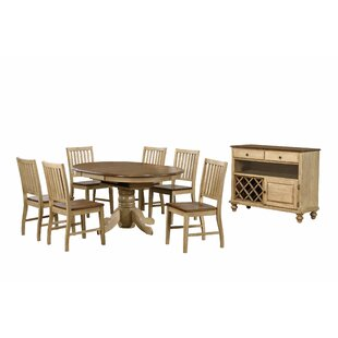 Huerfano Valley 8 Piece Dining Set by Loon Peak #2