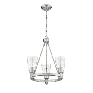 Sinatra III 3-Light Shaded Chandelier by Ove Decors
